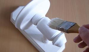 KROK I - Malowanie kwietnika drewnianego
